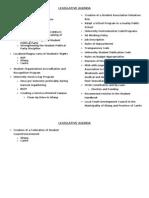 2010 Legislative Agenda