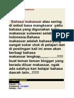 Belajar Bahasa Makassar