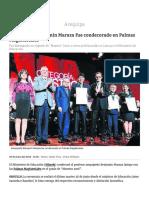 Arequipeño Benjamín Maraza Fue Condecorado en Palmas Magisteriales _ Diario Correo