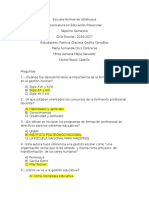 Preguntas - Gestion Educativa