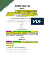 Decreto 262 de 2000 Procuraduría General de La Nación