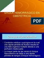 Shock Hemorragico en Obs.