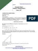 13547soln Class x Maths Final Test