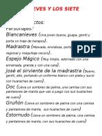 Blancanieves y Los Siete Enanos Obra 2
