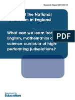 DfE 2012 Review of the National Curriculum in England - What Can We Learn From High-performing Jurisdictions