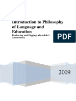 'Introduction to Philosophy of Language and Education' - Alwasilah Chaedar