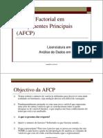 Análise Fatorial de Componentes Principais