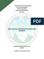 Estructura Nacional de Metrologia Guatemala