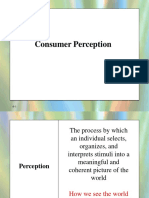 Consumer Perception for Quiz 1