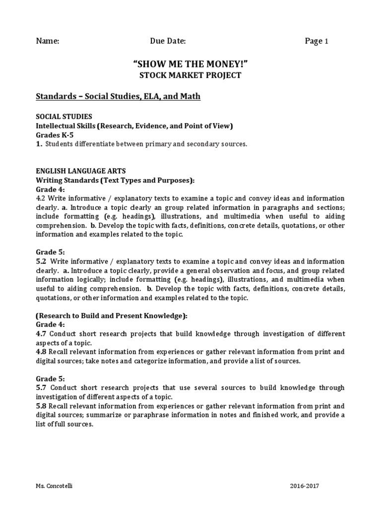 stock market project smaller size division mathematics fraction mathematics