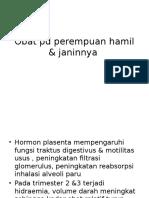 Obat Pd Perempuan Hamil & Janinnya
