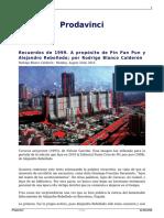 Recuerdos de 1999 a Proposito de Pin Pan Pun y Alejandro Rebolledo Por Rodrigo Blanco Calderon