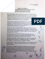Joint Statement on the Resumption of the Formal Talks in the Peace Negotiations between the GRP and NDFP