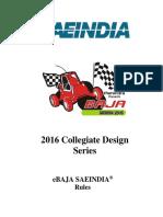 2016 EBaja SAE India Rules