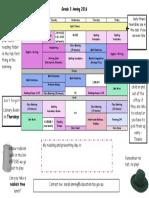 timetable garde3a 2016