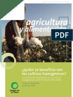 ¿Quién se beneficia con los cultivos transgénicos?