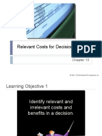 13 Relevant Costs for Decision Making
