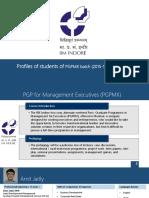 PGPMX-Mumbai 2015-2017 Batch Profile