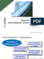 12 Segment Reporting, Decentralization & the Balanced Scorecard