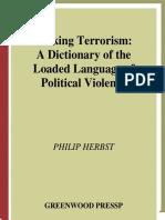 [Philip Herbst] Talking Terrorism