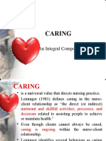 Caring, An Integral Component in Nursing
