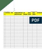Contoh Format Agenda Harian