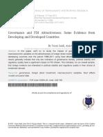 2 Governance and FDI Attractiveness