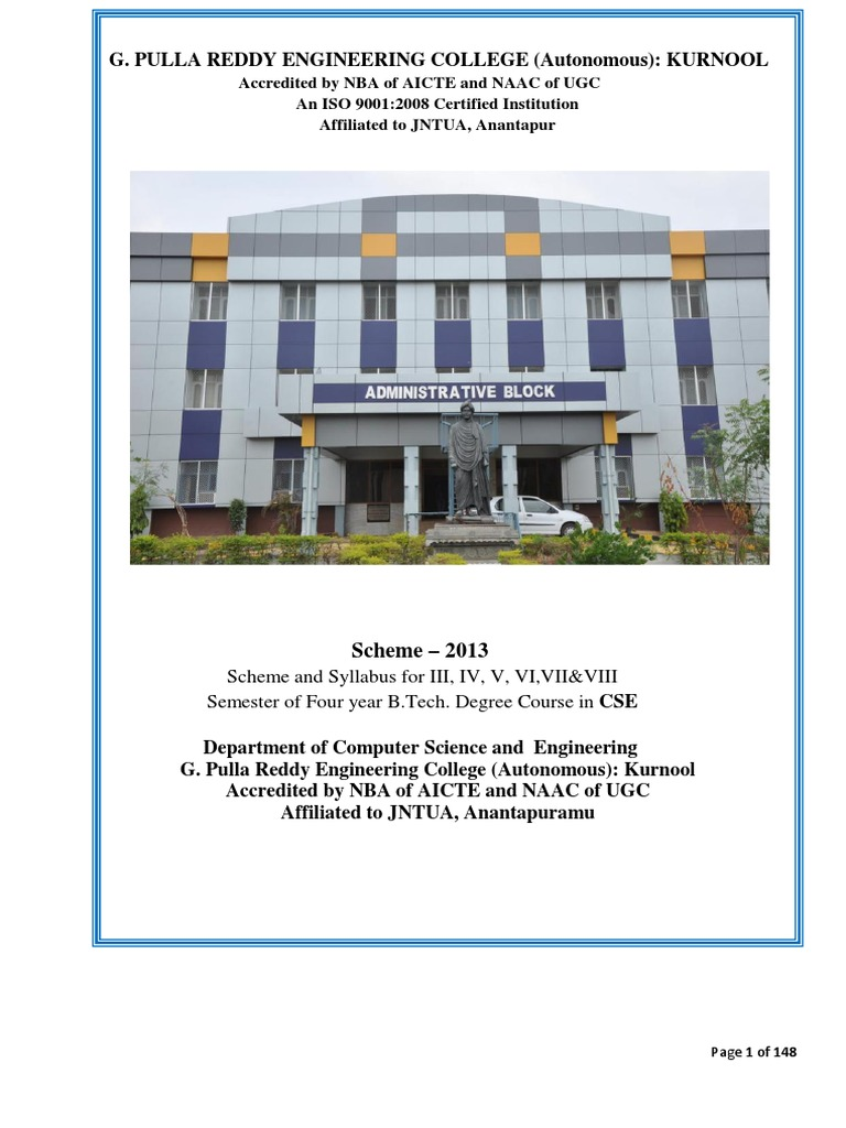 Cse Scheme 13 Syllabus For Ii Iii Iv B Tech C Proximity Detector Using Cs209 Instruction Set
