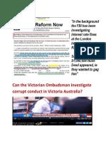 Victorian Ombudsman - Can she investigate Corrupt Conduct?