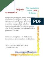 Feitura de Projetos Acadêmicos - Cursos