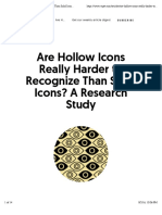 Are Hollow Icons Really Harder to Recognize Than Solid Icons? A Research Study | Viget