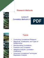 Lecture 6 - Correlation Methods