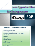 New Business Opportunities for Entrepreneur