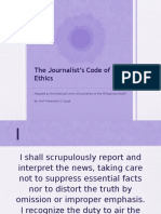 Journalists Code of Ethics