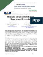 Slops and Distances for Regular Shape Image Recognition