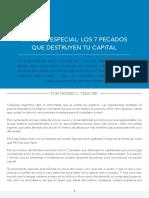 7 Pecados que destruyen el capital