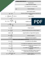 Formulario elettromagnetismo