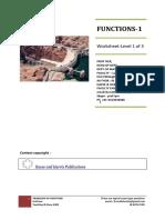 Functions worksheet. Intertnational Math CIE 0607