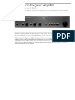 Data Sheet - 304 Stereo Integrated Amplifier