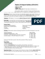 algebra 3-4 support syllabus
