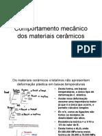 Comportamento mecânico dos materiais cerâmicos.ppt