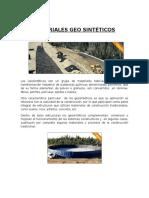 Materiales Geo Sintéticos Terminado