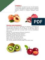 Frutas Con Vitamina