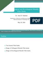 Wavelets FilterBanksDesign1
