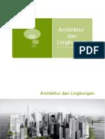 1 Arsitektur Dan Lingkungan 1