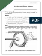Impulse turbine experiment