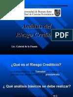 Analisis Del Riesgo Crediticio