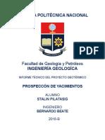 Informe de Proyecto Geotérmico