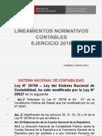 LINEAMIENTOS NORMATIVOS CONTABLES