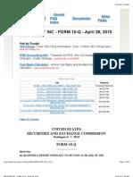 Wellpoint Inc - Form 10-q - April 28, 2010